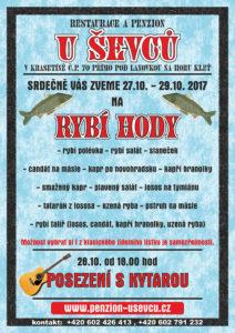 Penzion U Ševců - Rybí hody 27.10. - 29.10. 2017