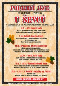 Podzimní akce 2017 - Penzion u Ševců